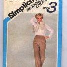 SIMPLICITY PATTERN # 5347 MISSES STRAIGHT LEG PANTS SIZE 14 CUT 1981 VINTAGE OOP