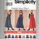 SIMPLICITY PATTERN # 7316 MISSES DRESS DESIGN YOUR OWN SIZE 12-16 UNCUT 1996 OOP