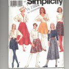 SIMPLICITY PATTERN # 8018 MISSES FLARED AND WRAP SKIRTS SIZE N 10-14 UNCUT 1992 OOP