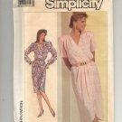 SIMPLICITY PATTERN # 7888 MISSES FRONT MOCK WRAP DRESS SIZE 12 UNCUT 1986 OOP