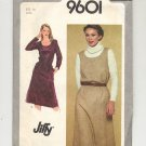 SIMPLICITY PATTERN # 9601 MISSES PULLOVER DRESS OR JUMPER SIZE 14 UNCUT 1980 VINTAGE OOP