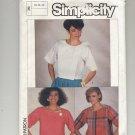 SIMPLICITY PATTERN #6913 MISSES EASY TO SEW TOP SIZE 8-12 UNCUT 1985 VINTAGE OOP