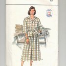 BUTTERICK PATTERN # 3665 MISSES TOP & SKIRT SIZE 10 UNCUT 1986 VINTAGE OOP