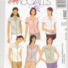 McCALL'S EASY PATTERN # 2691 MISSES/MISS PETITE SHIRTS SIZE D 12-16 UNCUT 2000 OOP