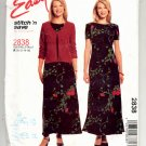 McCALL'S EASY PATTERN #2838 MISSES MISS PETITE DRESS & UNLINED JACKET SIZE A 10-16 UNCUT 2000 OOP