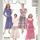 McCALL'S PATTERN # 6323 MISSES TWO-PIECE DRESS SIZE C 10-14 UNCUT 1993 OOP