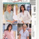 McCALL'S CLASSIC FIT PATTERN # 3284 MISSES SHIRTS SIZE C 10-14 UNCUT 2001 OOP