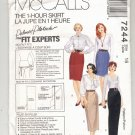 McCALL'S PATTERN # 7244 MISSES 1 HOUR SKIRT IN 4 LENGTHS SIZE 16 UNCUT 1994 OOP