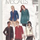 McCALL'S PATTERN # 2883 MISSES PETITE SHIRT 2 LENGTHS SIZE 16-18 UNCUT 2000 OOP