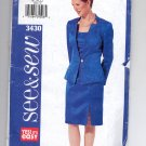 BUTTERICK SEE & SEW PATTERN # 3430 MISSES DRESS & JACKET SIZE 18-22 UNCUT 2002