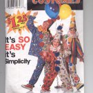 SIMPLICITY PATTERN # 7393 CLOWN & HAT COSTUMES SIZE 2-12 PARTIALLY CUT 1995 OOP