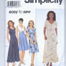 SIMPLICITY EASY PATTERN # 8504 MISSES / PETITE DRESS SIZE K 8-12 CUT 1998 OOP