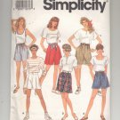 SIMPLICITY PATTERN # 7845 MISSES SHORTS IN TWO LENGTHS SIZE HH 6-12 CUT 1992 OOP