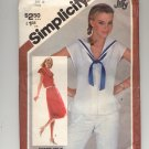 SIMPLICITY PATTERN # 5482 MISSES PULLOVER DRESS OR TOP SIZE 10 CUT 1982 VINTAGE