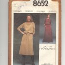 SIMPLICITY PATTERN # 8652 MISSES PULLOVER DRESS & TOP BY CATHY HARDWICK SIZE 8 CUT 1978 VINTAGE