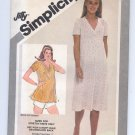 SIMPLICITY PATTERN # 9954 MISSES MATERNITY PULLOVER DRESS & TOP SIZE 10 CUT 1981 VINTAGE