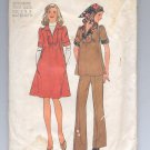 SIMPLICITY PATTERN # 7153 MISSES MATERNITY DRESS TOP & PANTS & SCARF SIZE 6 & 8 CUT 1975