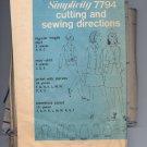 SIMPLICITY PATTERN # 7794 MISSES SKIRT & MINI SKIRT & JACKET SIZE 7-16 CUT 1968 VINTAGE OOP