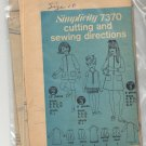 SIMPLICITY PATTERN # 7370 GIRLS CHILDS DRESS & SHORTS SIZE 4-14 CUT 1967 VINTAGE