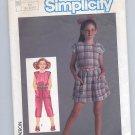 SIMPLICITY PATTERN # 6811 GIRLS JUMPSUIT SIZE 10-14 CUT 1985 VINTAGE OOP