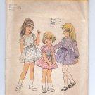 SIMPLICITY PATTERN # 6819 GIRLS CHILDS DRESS SIZE 6X CUT 1975 VINTAGE OOP