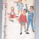 SIMPLICITY PATTERN # 4913 TODDLERS BOYS JACKET SHIRT PANTS SIZE 2 CUT 1975 VINTAGE OOP
