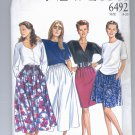 SIMPLICITY NEW LOOK PATTERN # 6492 WOMENS SKIRT & CULOTTES SIZE 8-20 CUT