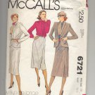 McCALL'S EVELYN DE JONGE PATTERN # 6721 MISSES JACKET SKIRT TOP SIZE 10 CUT 1979 VINTAGE OOP