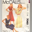 McCALL'S SUE WANG PATTERN # 7060 MISSES DRESS APPLIQUE & BELT SIZE 10 CUT 1980 VINTAGE OOP