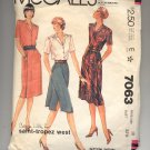McCALL'S SAINT-TROPEZ WEST PATTERN # 7063 MISSES SKIRT & TOP SIZE 10 CUT 1980 VINTAGE OOP