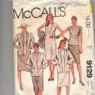 McCALL'S PATTERN # 9129 MISSES JACKET DRESS SKIRT & TOP SIZE 10 CUT 1984 VINTAGE OOP