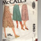 McCALL'S EASY PATTERN # 6263 MISSES/JR PETITE SET OF SKIRTS SIZE 8-12 CUT 1978 VINTAGE OOP