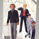 McCALL'S PATTERN # 2332 CHILDREN'S BOYS JACKET VEST & PANTS SIZE 4 CUT 1986 VINTAGE OOP