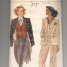 VOGUE  PATTERN # 7157 MISSES JACKET & VEST SIZE 10 CUT VINTAGE OOP