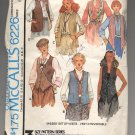 McCALL'S PATTERN # 6226 MISSES SET OF VESTS SIZE A 6-10 CUT 1978 VINTAGE OOP