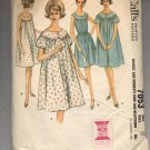 McCALL'S PATTERN # 7053 MISSES ROBE & NIGHTGOWN SIZE 12 CUT 1963 VINTAGE OOP