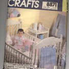 McCALL'S CRAFTS PATTERN # 8871 BABY QUILT CRIB BUMPER SET DIAPER BAG & CRIB TOYS OOP