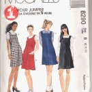 McCALL'S PATTERN # 8290 MISSES ONE HOUR JUMPERS SIZE B 8-12 CUT 1996 OOP
