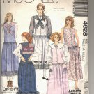 McCALL'S PATTERN # 4628 MISSES JUMPER W/DETACHABLE COLLAR SIZE 6-10 CUT 1989 OOP