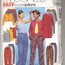McCALL'S PATTERN # 3369 MISSES DUSTER JACKET TANK TOP & PANTS SIZE XS-M CUT 2001 OOP