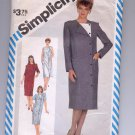 SIMPLICITY PATTERN # 6185 MISSES COAT DRESS WITH SLEEVE VARIATIONS SIZE 10 CUT 1983 OOP ~ VINTAGE