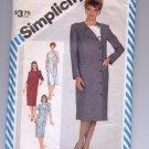 SIMPLICITY PATTERN # 6185 MISSES COAT DRESS WITH SLEEVE VARIATIONS SIZE 10 CUT 1983 OOP ~ VINTAGE