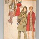 SIMPLICITY PATTERN # 9632 MISSES COAT DRESS & PANTS IN HALF SIZES 12 1/2 CUT 1971  OOP ~ VINTAGE