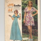 SIMPLICITY PATTERN # 5451 MISSES/JUNIOR DRESS IN TWO LENGTHS SIZE 7 CUT 1972 OOP ~ VINTAGE