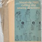 SIMPLICITY PATTERN # 7665 GIRLS DRESS TOP PANTS & SHORTS SIZE 7-14 CUT 1960s OOP VINTAGE