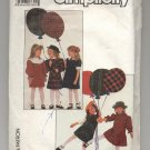 SIMPLICITY PATTERN # 8835 GIRLS TODDLERS DRESS SIZES 3 CUT 1988 VINTAGE OOP