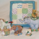 ENESCO'S CHERISHED TEDDIES ~ ANTIQUE TOY MINI TEA SET ~ 9 PC #664111 ~ 1999 MIB