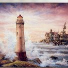 2002 PRINT #53: LIGHTHOUSE  SIGNED MARILYN REA NEAR MINT