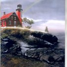 2000 PRINT #47: RED LIGHTHOUSE ON ROCKS 8 X 10 MINT