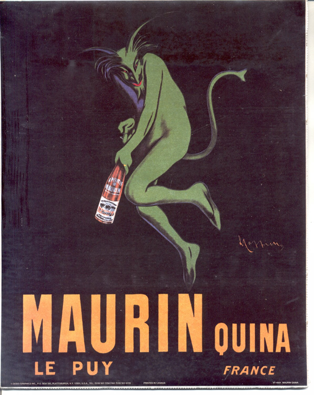 PRINT #20: MAURIN QUINA LE PUY - FRANCE  8 X 10 MINT